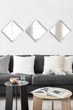 Tablo Center 3 Parçalı 20x20 cm Ayna