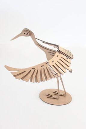 3D SERGİ 3D Ahşap Puzzle Turna Kuşu 41 Parça