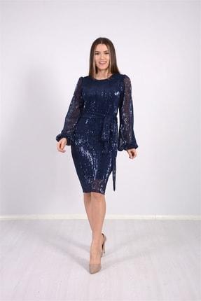 giyimmasalı Kadın Lacivert Abiye Elbise