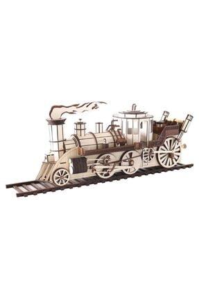 3D SERGİ 3d Ahşap Steampunk Tren Puzzle 361 Parça