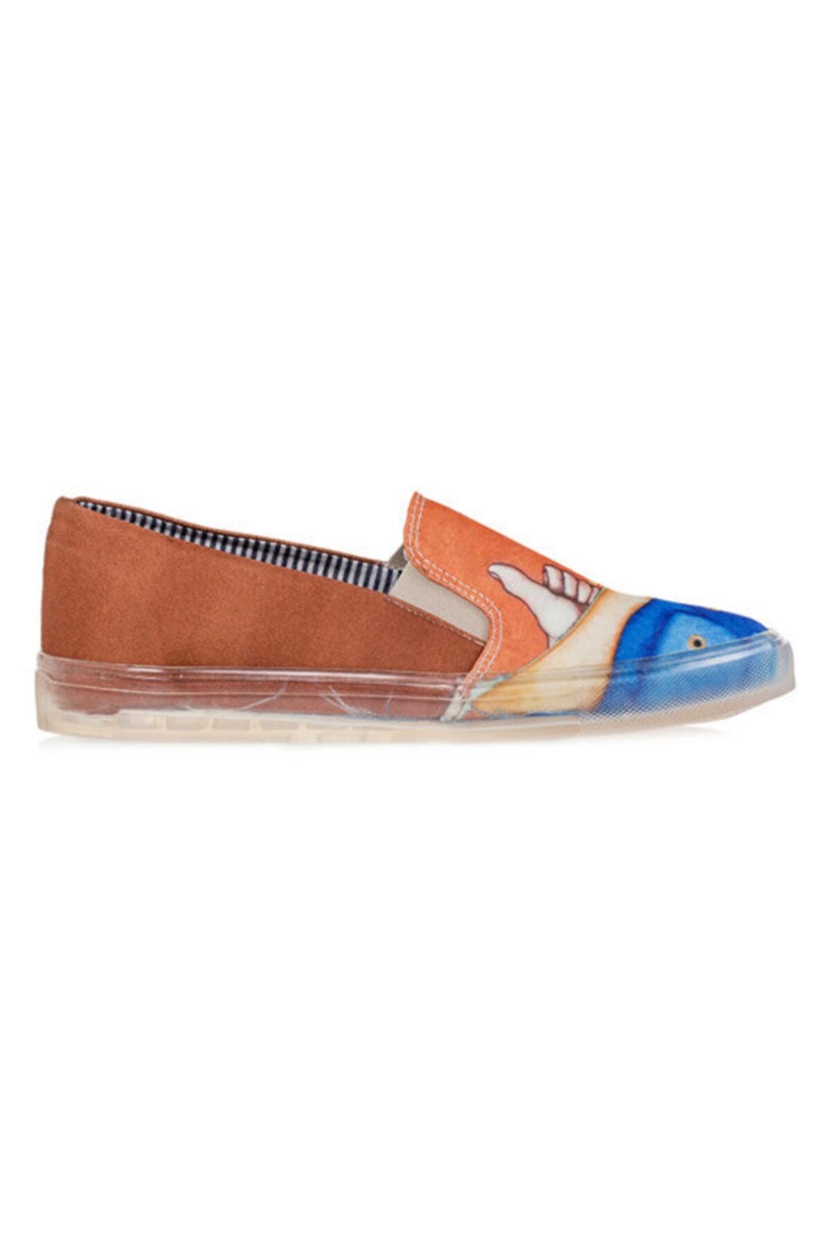 Biggdesign Erkek Kahverengi Mr. Allright Desenli Ayakkabı 1