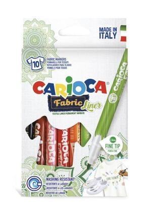 CARIOCA Fabric Liner Keçeli Kumaş Boyama Kalemi 10 Renk Fine