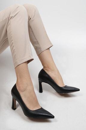Marjin Siyah Kadın Akuna Stiletto Topuklu Ayakkabı 19K0016LR020