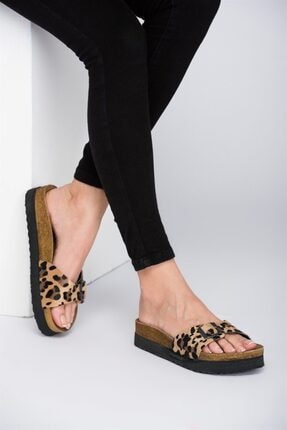 Fox Shoes Leopar Kadın Terlik D777824402