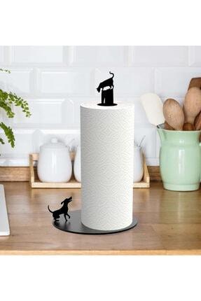 Svava Kedi Ve Köpek Figürlü Metal Kağıt Havluluk