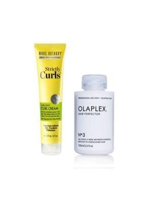 MARC ANTHONY Bukle Belirginleştirici Durulanmayan Bakım Kremi 177 ml+Olaplex Hair Perfector No:3 Saç Bakımı 100ml