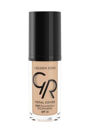 Golden Rose Total Cover 05 Cool Sand 2'in 1 Foundation 30 ml