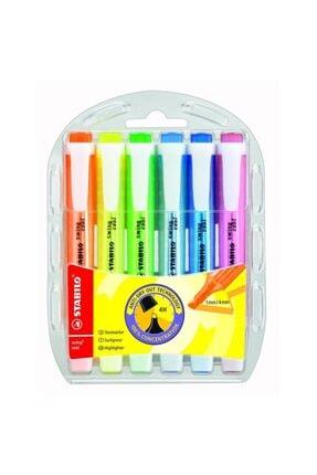 Stabilo Swing Cool Fosforlu Kalem 6'lı Paket