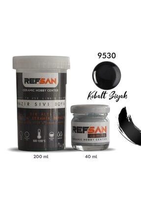 Ref-San Hazır Çini Ve Seramik Boyası 9530 Kobalt Siyah 200 Ml