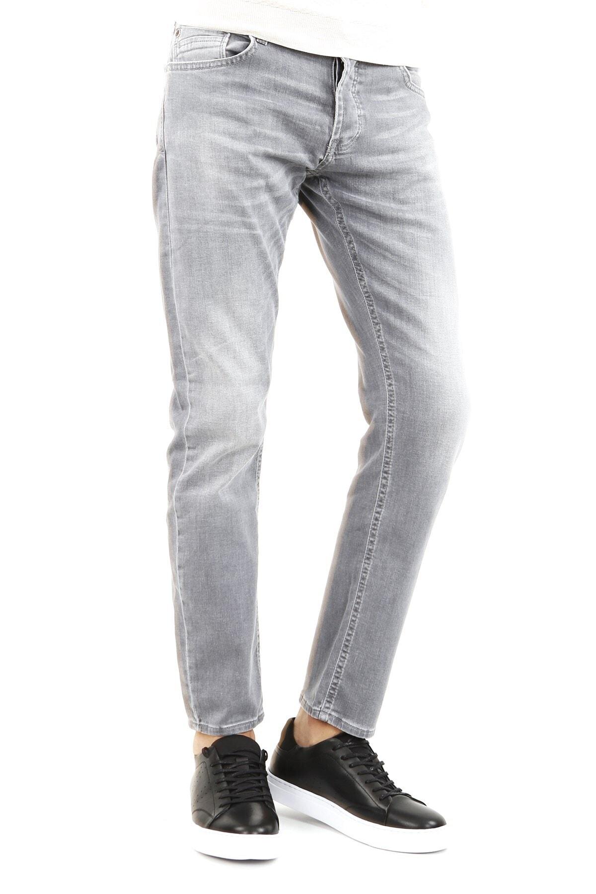 Jakamen Klasik Kalıp - Regular Fit Serili Kot Pantolon- 5 Cep Serili 1
