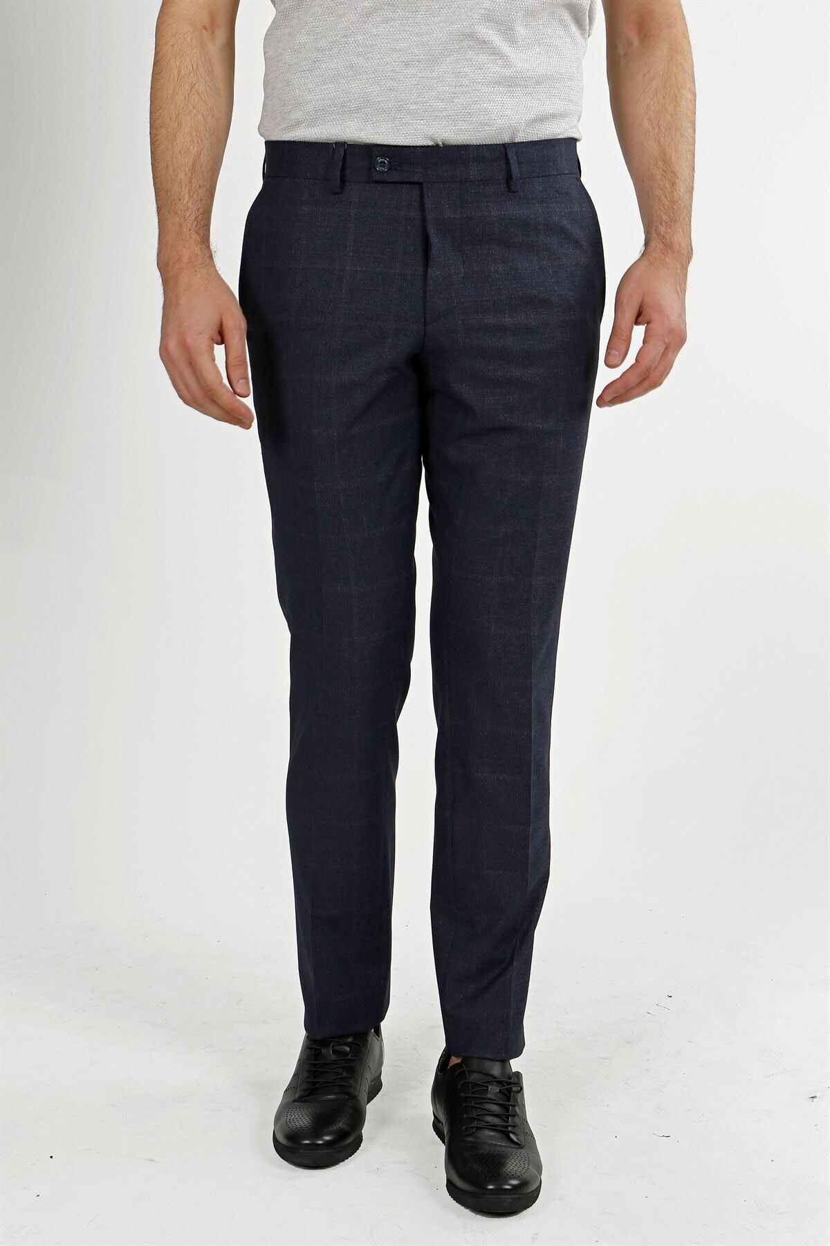 Jakamen Lacivert Klasik Kalıp - Regular Fit Pantolon- Yan Cep 1