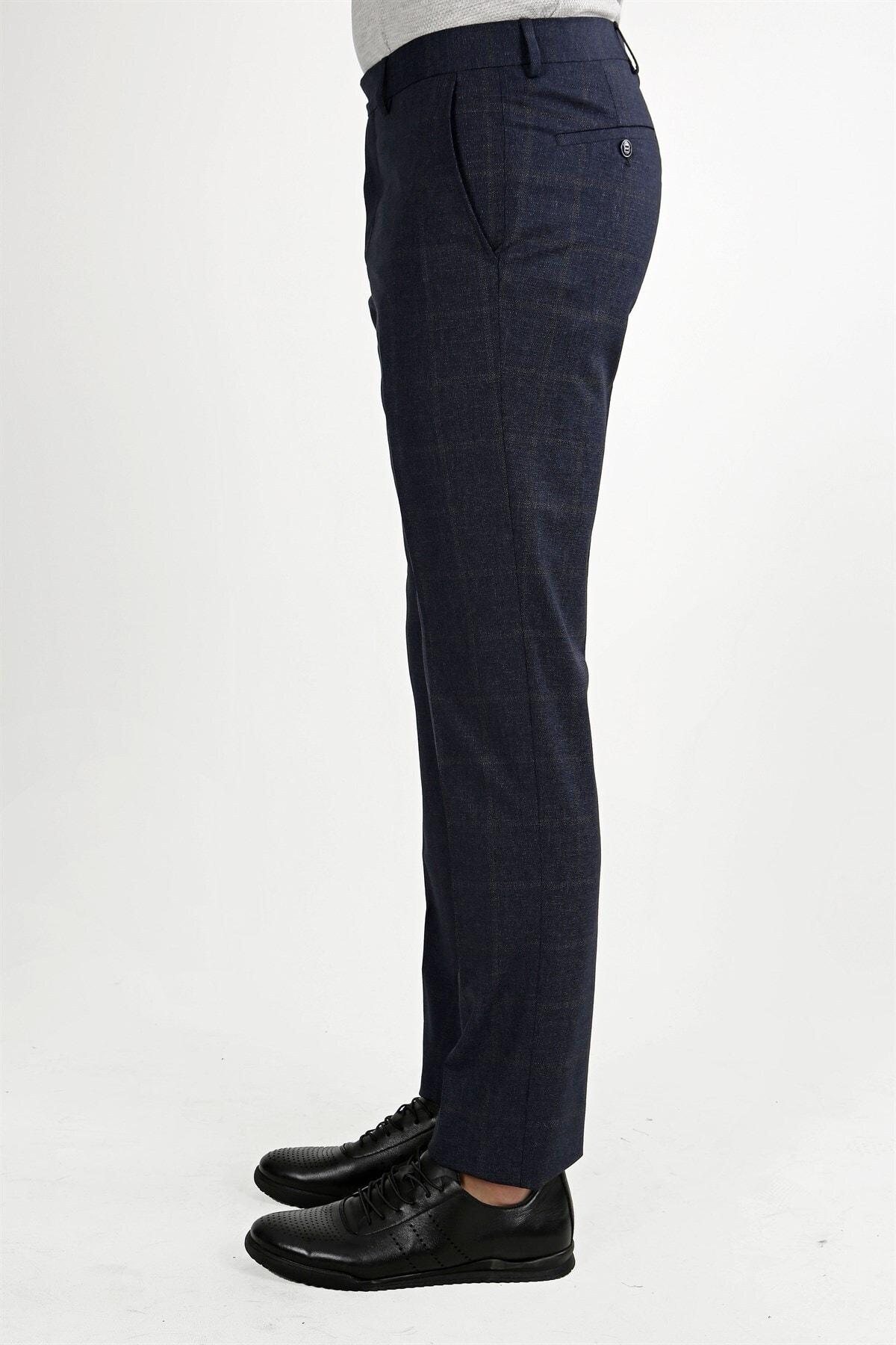 Jakamen Lacivert Klasik Kalıp - Regular Fit Pantolon- Yan Cep 2