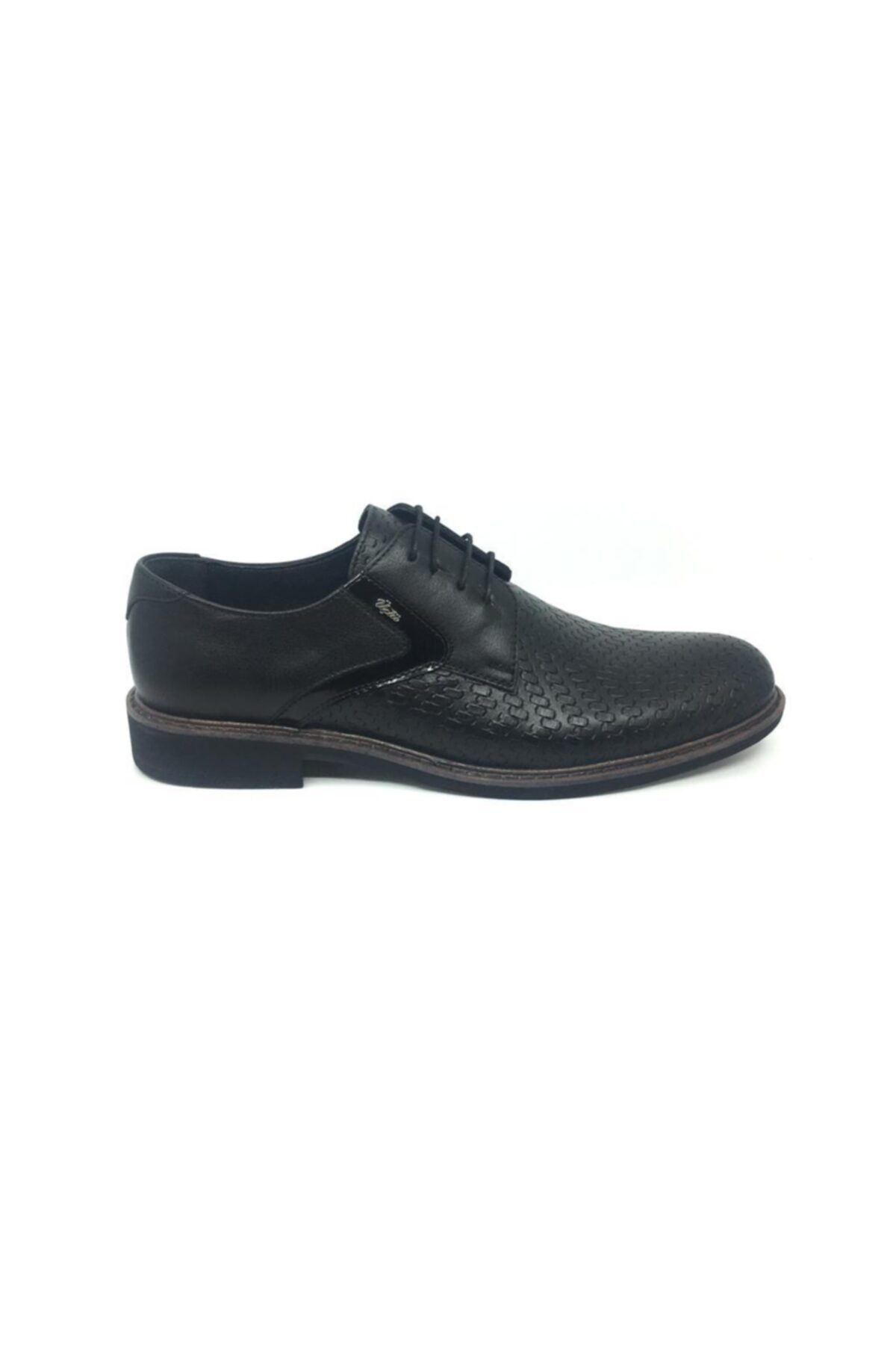 Taşpınar Erkek Siyah Deri Klasik Yazlık Ayakkabı 2