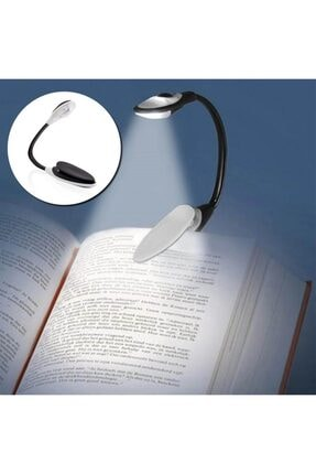 Tiktak sepette Kitap Okuma Lambası Kıskaçlı Işık Pilli Aydınlatma Kitap Okuma Işığı