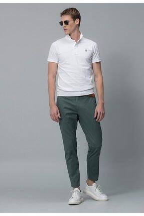 Lufian Erkek Diamos Basic Polo T- Shirt Beyaz 111040014100500