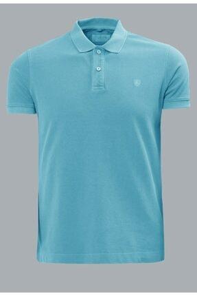 Lufian Erkek Mavi Eos Basic Polo T- Shirt