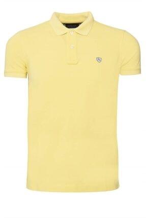 Lufian Erkek Açık Sarı Diamos Basic Polo T- Shirt