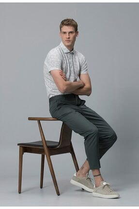 Lufian Erkek Yeşil Agathon Smart Polo Yaka T-shirt 111040005100600