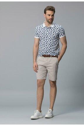 Lufian Erkek Beyaz Akis Smart Polo Yaka T-shirt 111040010100500