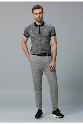Lufian Erkek Gri Alope Klasik Polo Yaka T-shirt