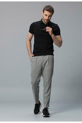 Lufian Erkek Siyah Klasik  Polo Yaka T-shirt 111040020100100