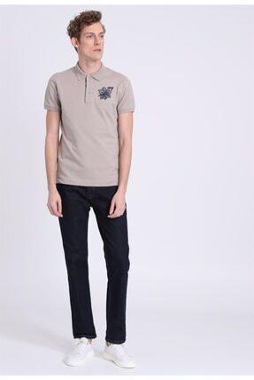 Lufian Erkek Kahverengi Armen Spor Polo T- Shirt