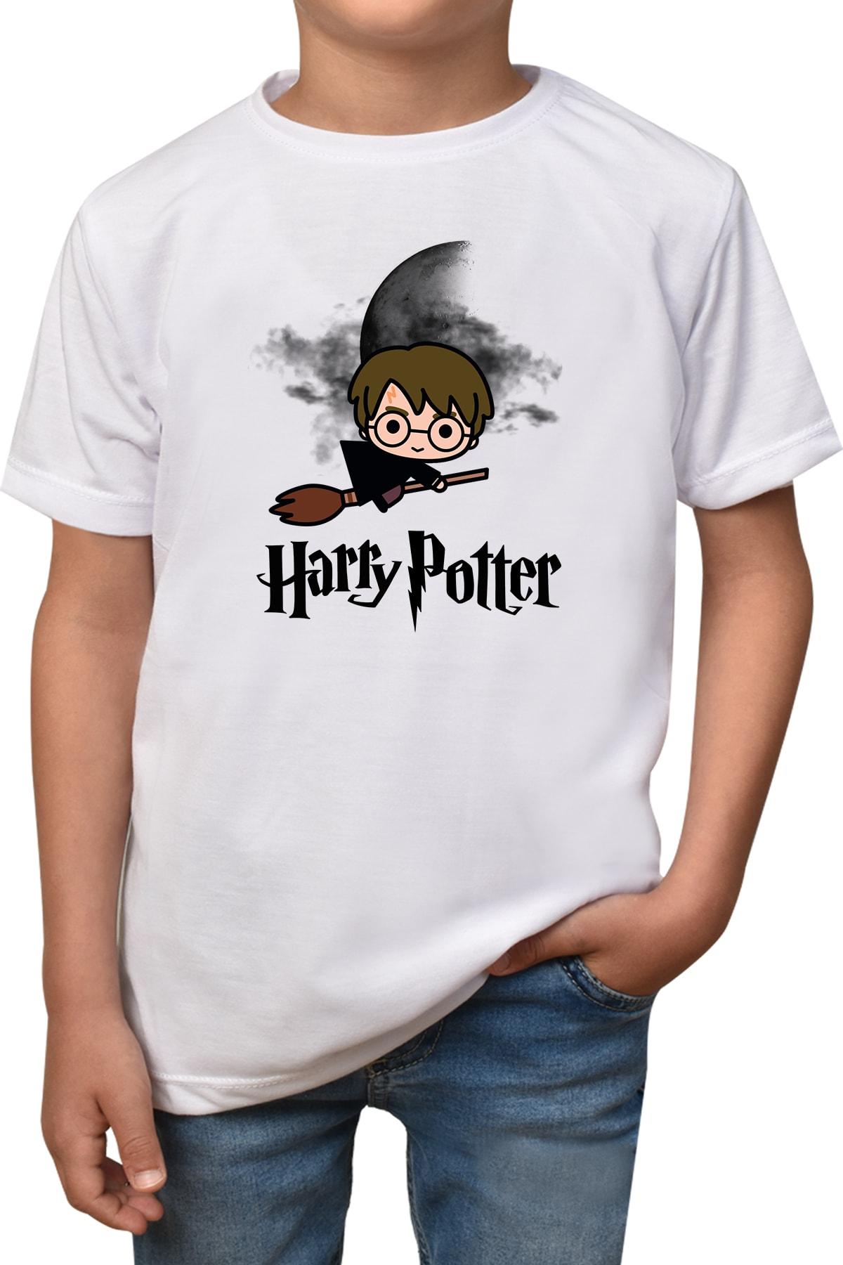 Phi Ajans Çocuk Beyaz Harry Potter Baskılı T-Shirt 1