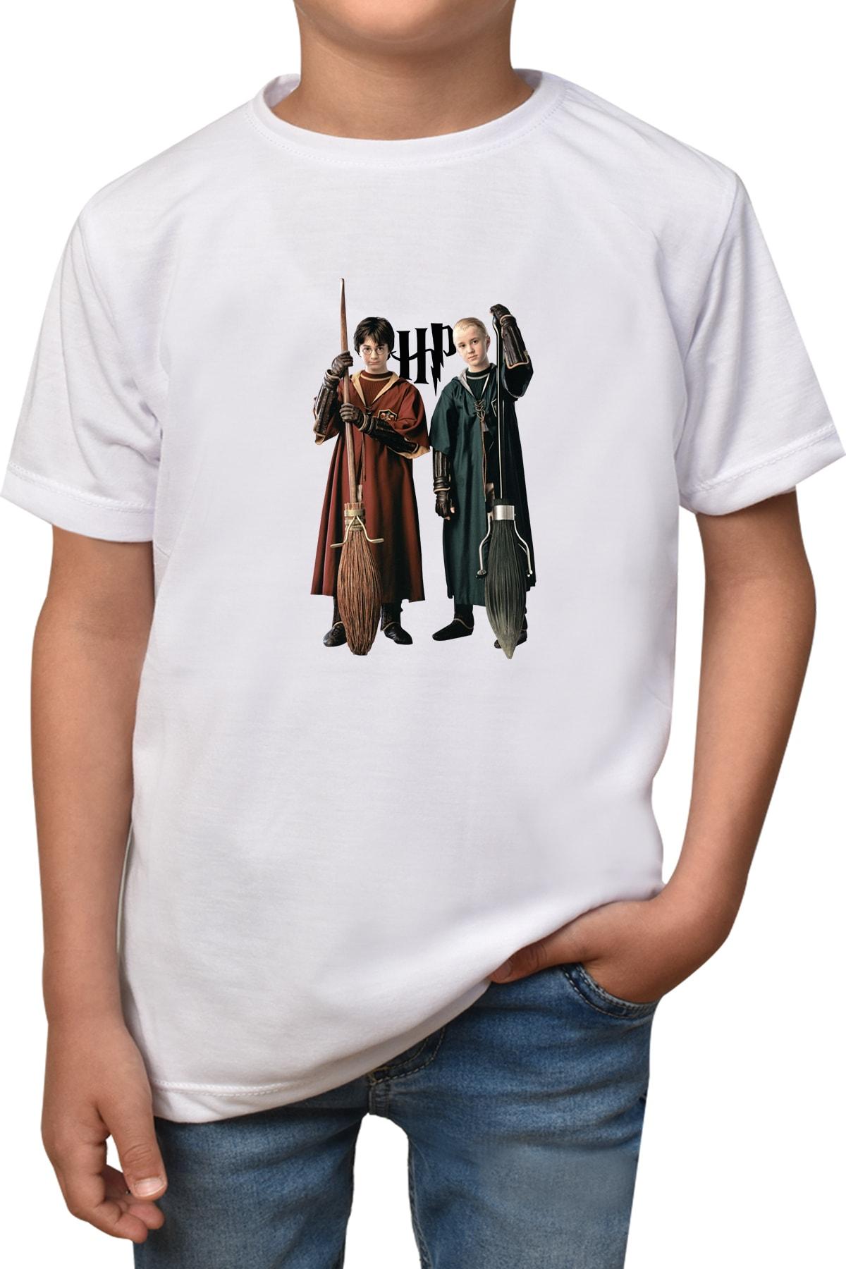 Phi Ajans Unisex Çocuk Harry Potter Baskılı T-Shirt 1