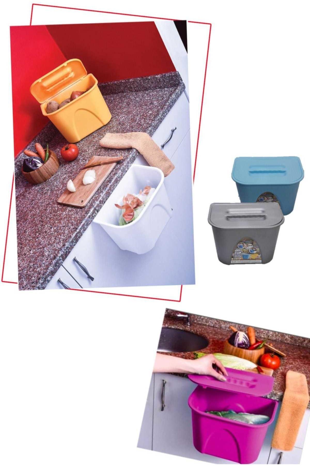 Helen's Home Dolap Kapağı Askılı Kapaklı Çöp Kovası 1