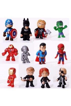 MARVEL Avengers Batman,hulk,süperman 12 Farklı Hero Figür