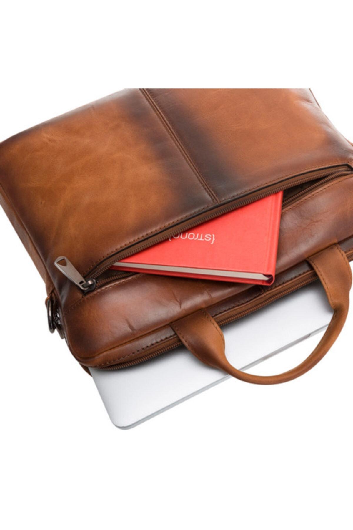 Bouletta Apollo Deri 16 Inç Notebook Evrak Çantası Rst2ef Taba 2