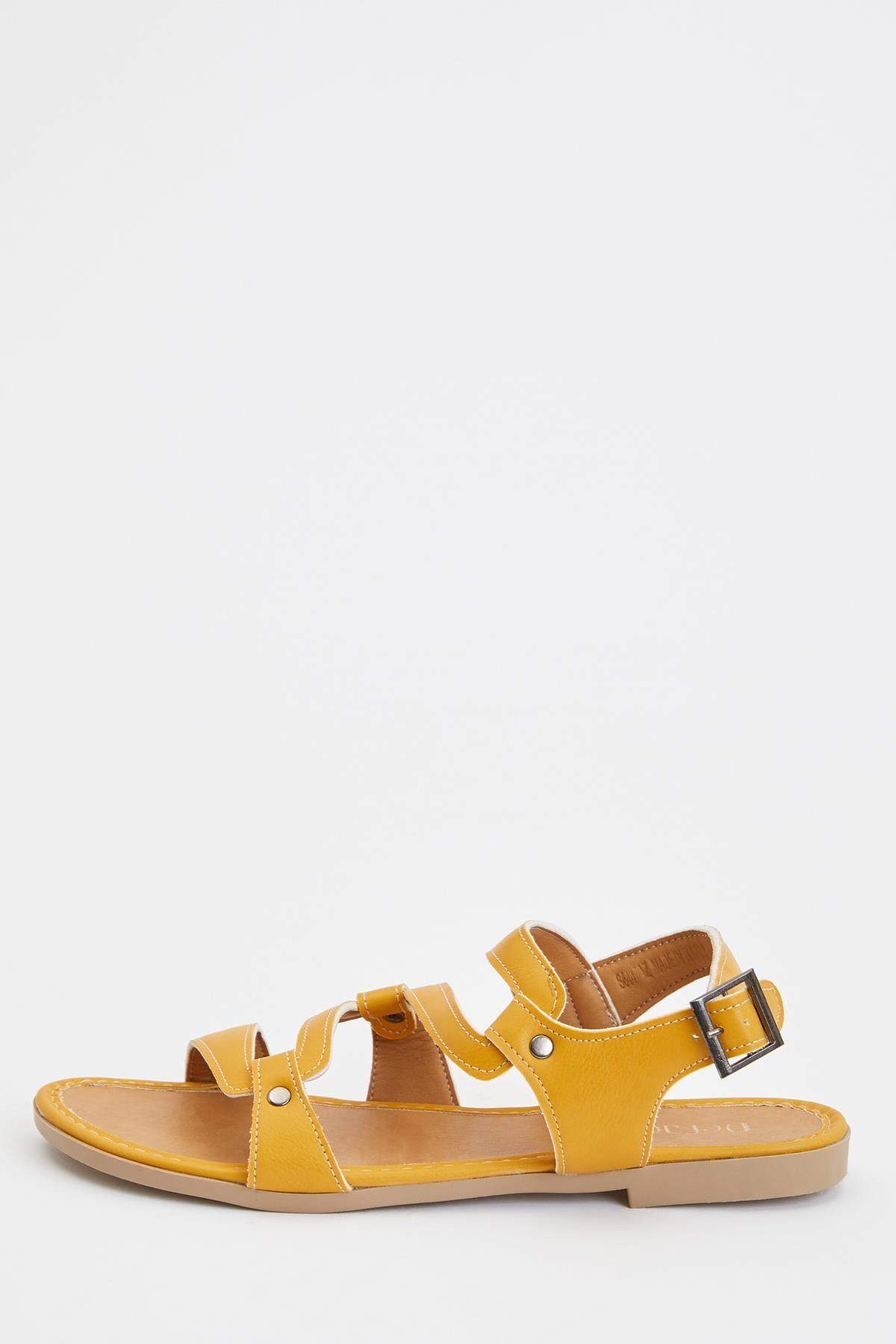 DeFacto Kadın Sarı Fashion Sandalet S6447AZ20SM