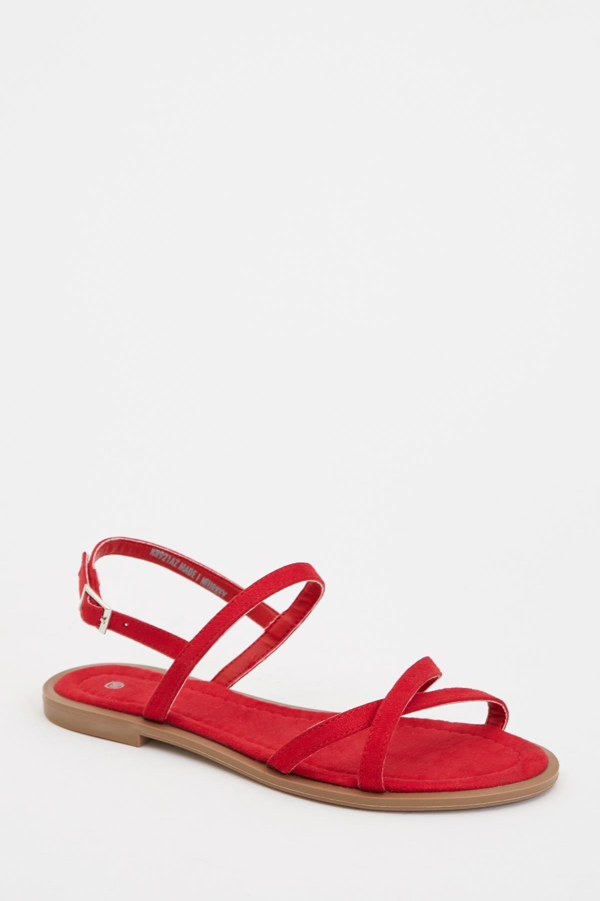 DeFacto Kadın Kırmızı Fashion Sandalet R8921AZ20SP