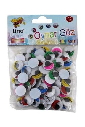 Lino Oynar Göz Büyük Renkli 15 mm 100 Lü Rbz-015