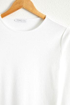 LC Waikiki Kadın Optik Beyaz Tişört 0WDN26Z8