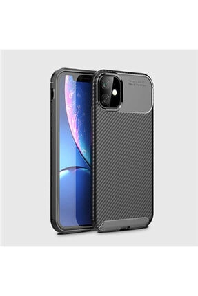 Fibaks Apple Iphone 11 Kılıf Rugged Armor Negro Karbon Silikon