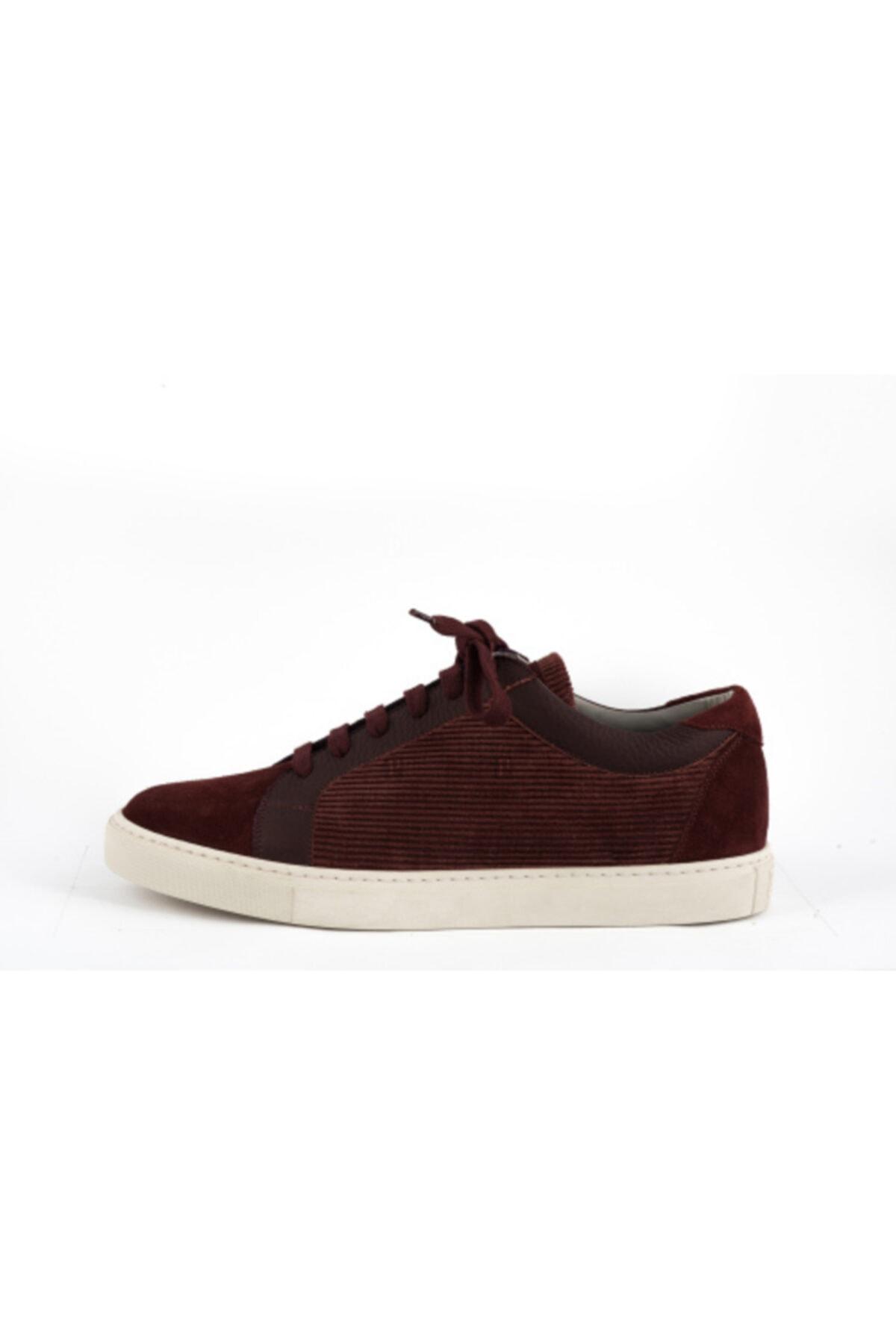 Brunello Cucinelli Erkek Bordo Sneakers 1