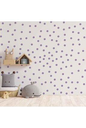 Artikel Küçük Lila Daireler Duvar Stickerı 3,5 X 3,5 Cm 168 Adet