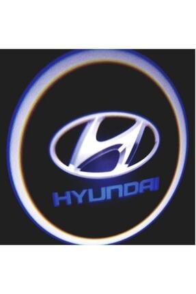 StrongMotors Hyundai Araçlar Için Pilli Yapıştırmalı Kapı Altı Led Logo