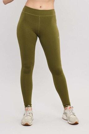 bilcee Yeşil Likralı Pamuklu Kadın Tayt ES-3625