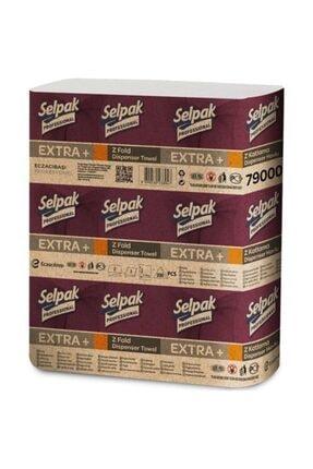 Selpak Professional Extra Z Katlama Dispenser Havlu 200'lü 6 Paket 21.5 X 24 Cm