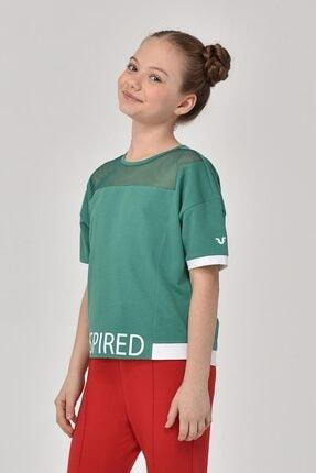 bilcee Yeşil  Kız Çocuk T-Shirt GS-8193