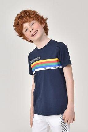 bilcee Lacivert Unisex Çocuk T-Shirt GS-8145