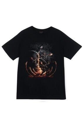 fame-stoned Siyah Rotting Christ Baskılı T-shirt