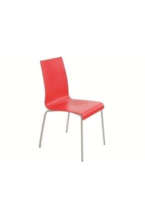 Papatya Kırmızı Gri Plastik Sandalye