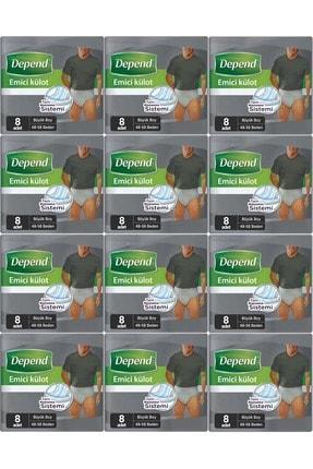 Depend Emici Külot Hasta Bezi Büyük Erkek 96 Adet (12pk*8)