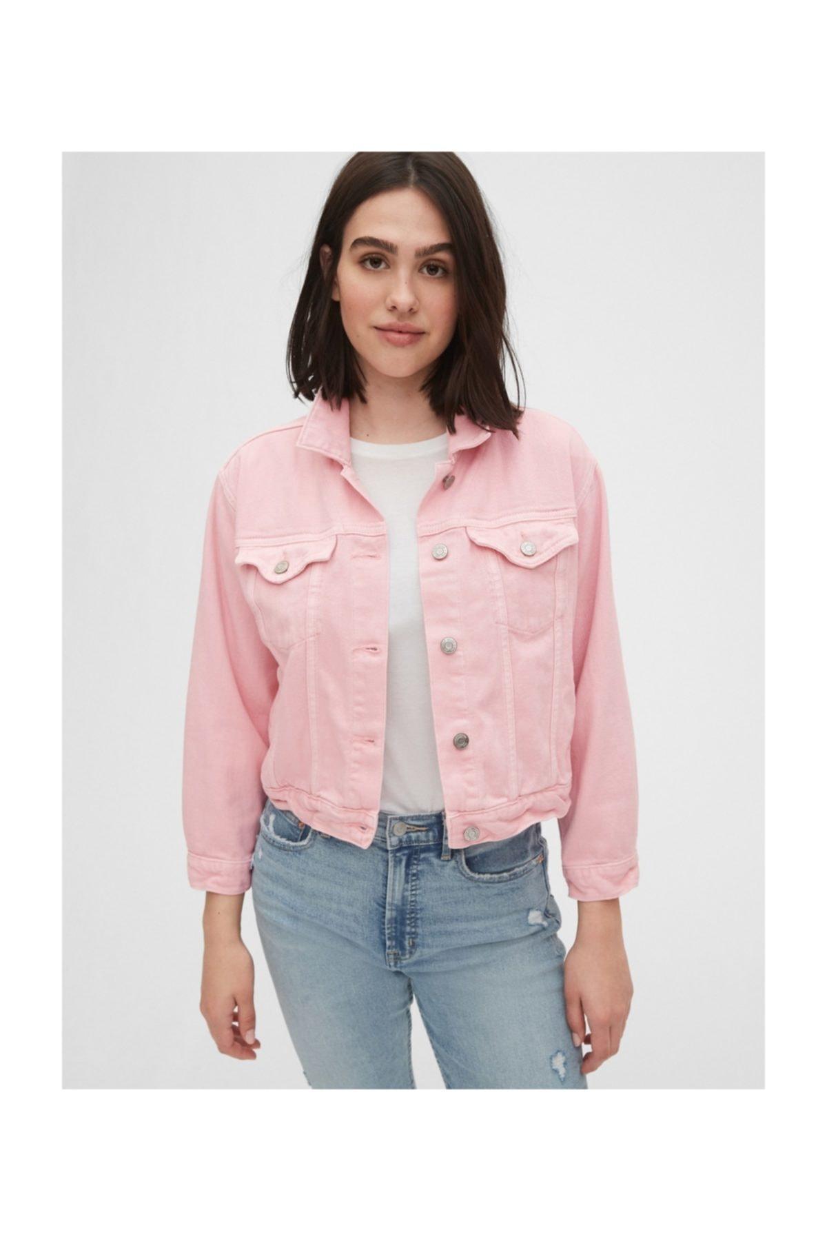 GAP Kadın Crop Icon Denim Ceket 1