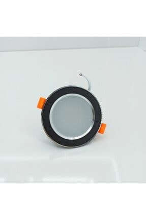 Artı 7 Watt 3 Renk Spot Siyah Kasa Krom Çerçeve Led