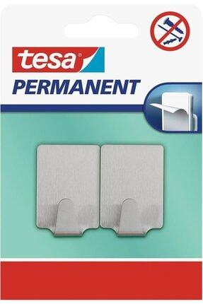 Tesa Permanent Yapışkanlı Askı Dikdörtgen Metal (2 Parça) 66613-00000-00