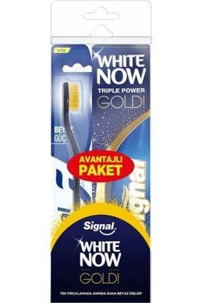 Signal White Now Gold Diş Macunu 75 Ml + Orta Fırça Set